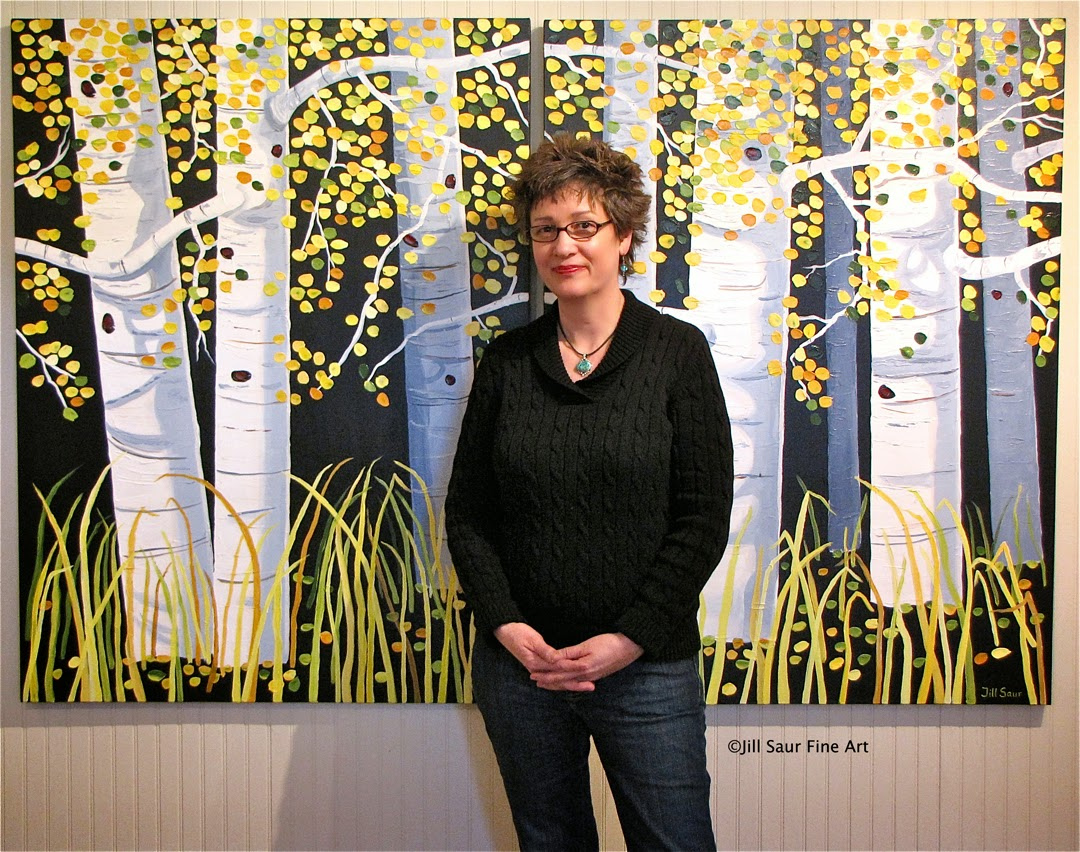 Jill Saur with painting