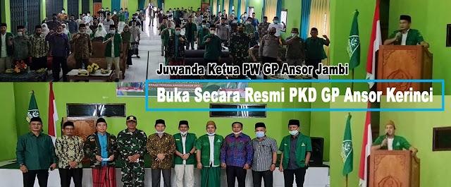Juwanda Buka Pelatihan Kepemimpinan Dasar GP Ansor Kerinci