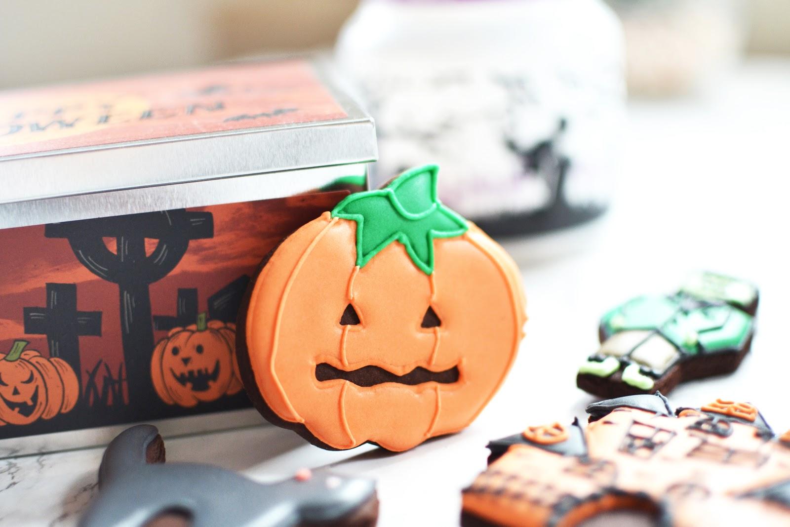 Pumpkin halloween themed biscuits