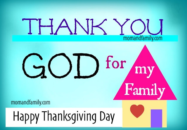 image with house family card for thanksgiving day