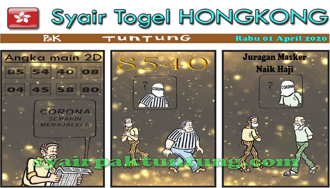 Prediksi HK Rabu 01 April 2020 - Prediksi HK Pak Tuntung