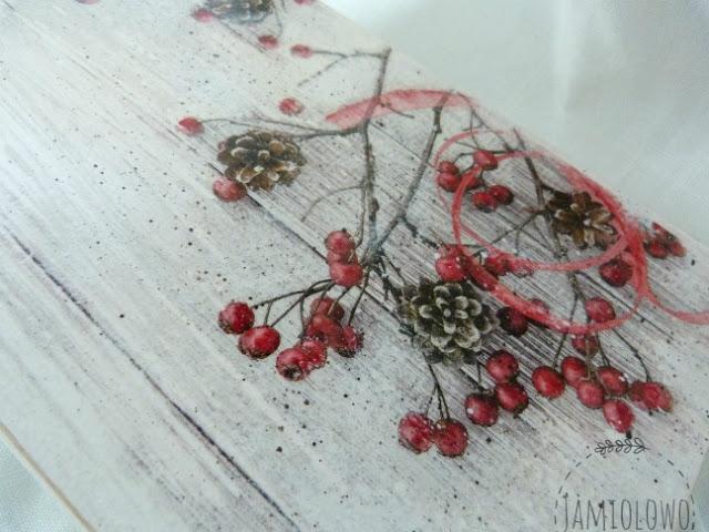 zimowy motyw na serwetce
