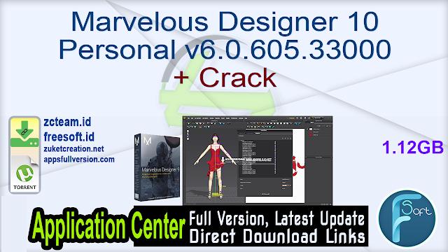 Marvelous Designer 10 Personal v6.0.605.33000 + Crack_ ZcTeam.id