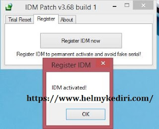Menggunakan patch idm