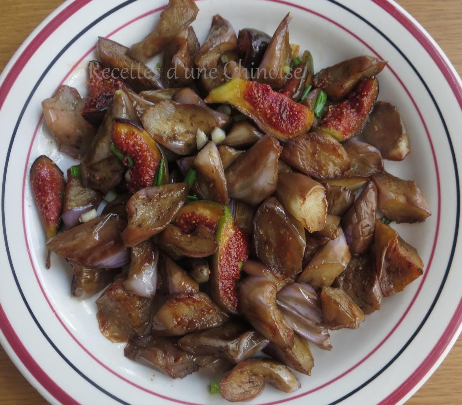 recettes d 39 une chinoise aubergines saut es aux figues. Black Bedroom Furniture Sets. Home Design Ideas