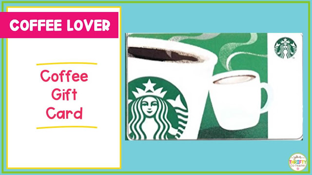 A Starbucks gift card makes a great teacher gift for the holidays.
