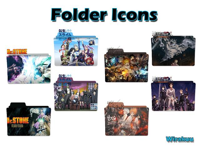 Folder Icon Anime Winter 2021 Pack 1