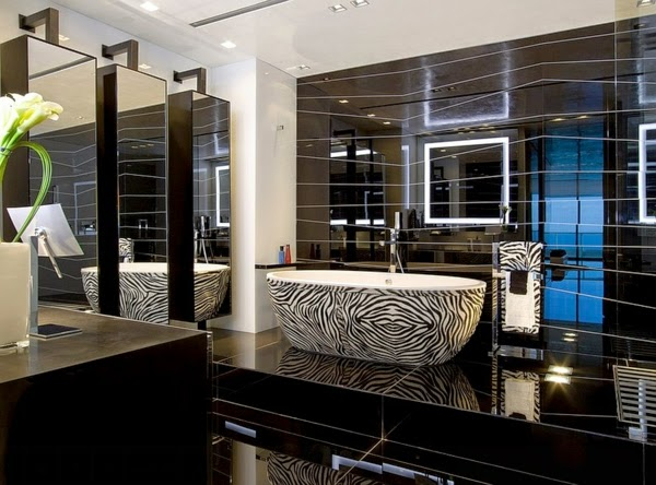 luxury bathroom designs - Black Luxury Modern Bathroom