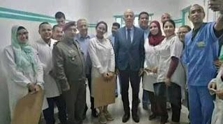 العسكري المستشفى يزور سعيد يسق