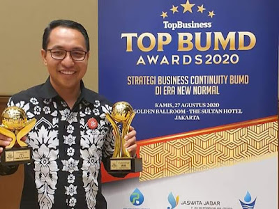 PT GNE Raih Penghargaan TOP BUMD Award 2020
