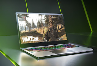 Call of duty warzone on a gaming laptop
