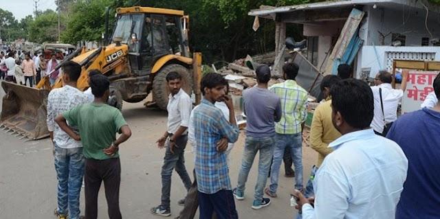 रविंद्र सिंह भदौरिया का 2 मंजिला मकान ढहाया, कुकरेजा की जमीन पर बना था | GWALIOR NEWS