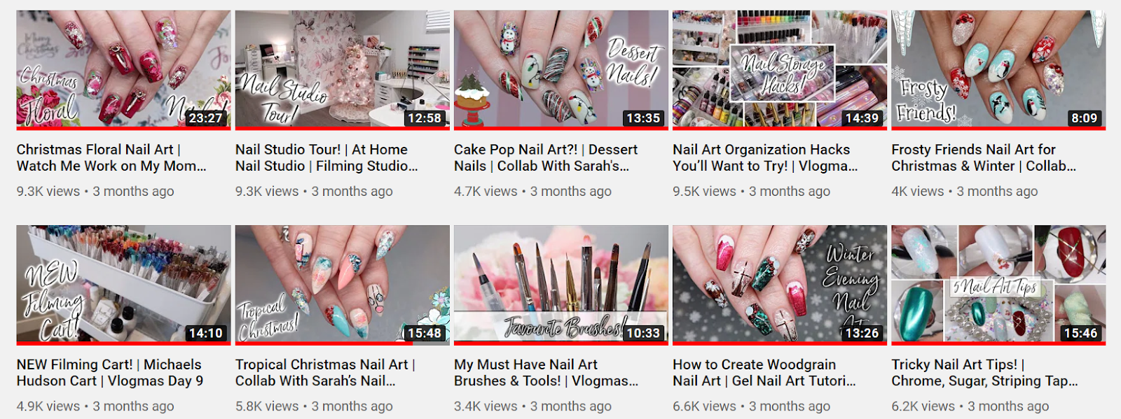 Talia's Nail Tales Youtube Videos