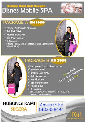 Twb, the walking beauty, Kuantan, terengganu, Pahang, mobile spa, spa bergerak, kerja part time