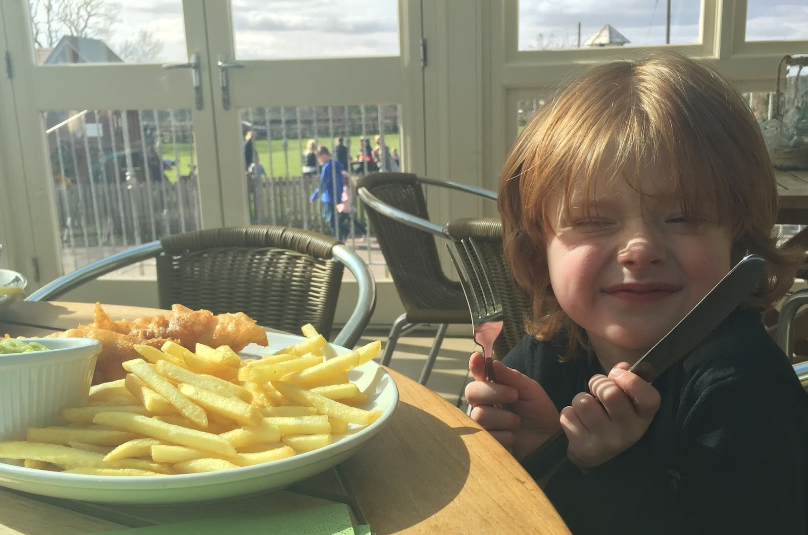 Fish & Chips Friday at Black Horse, Beamish - kids' fish and chips