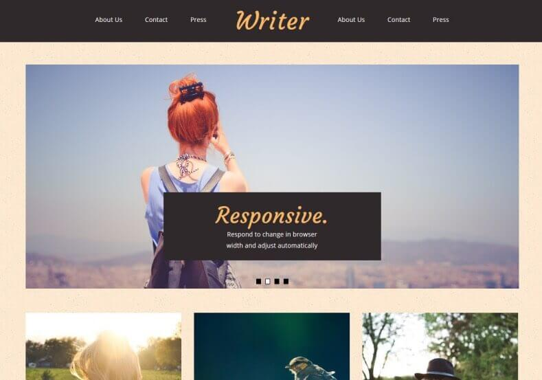 Writer Blogger Theme