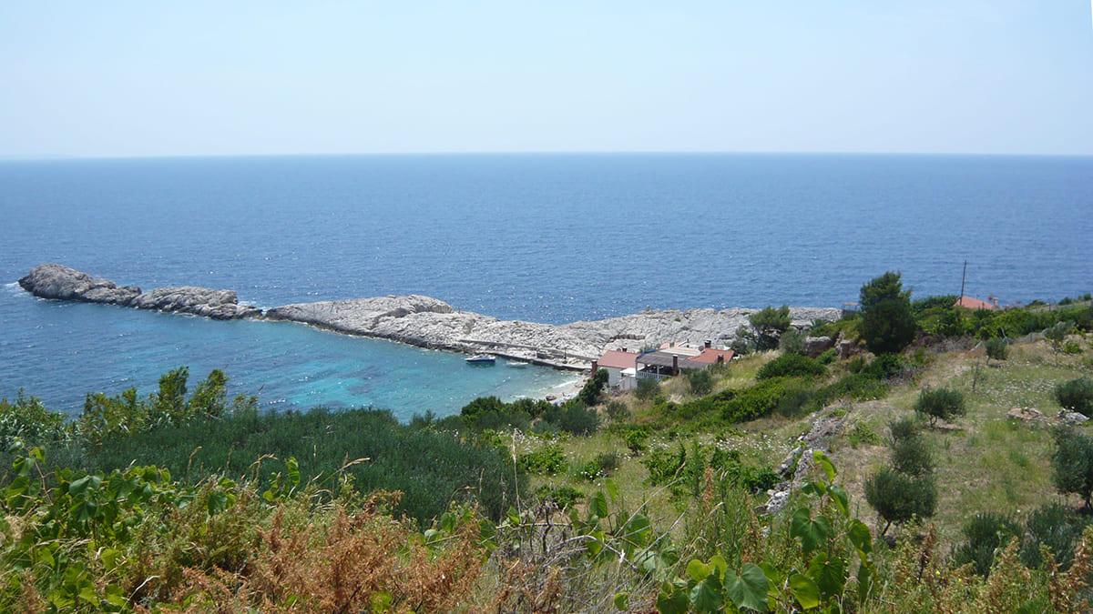 plage secrète hvar croatie