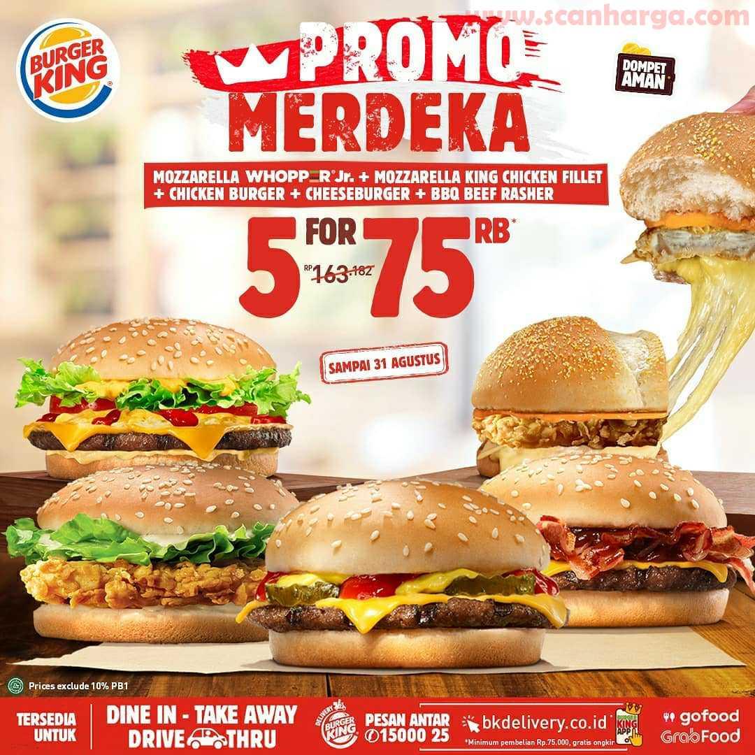 Burger King Promo Merdeka Periode 13 31 Agustus 2020 Scanharga