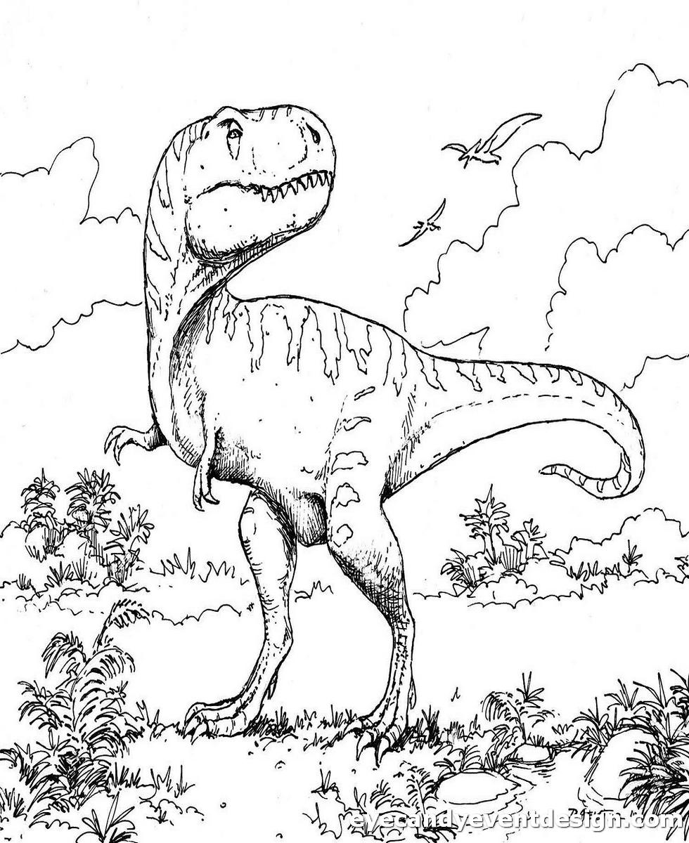 Ausmalbilder Dinosaurier Kostenlos