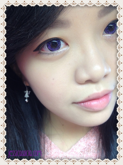 Review : EOS contact lens - Hikaru Violet #223 by Jessica Alicia