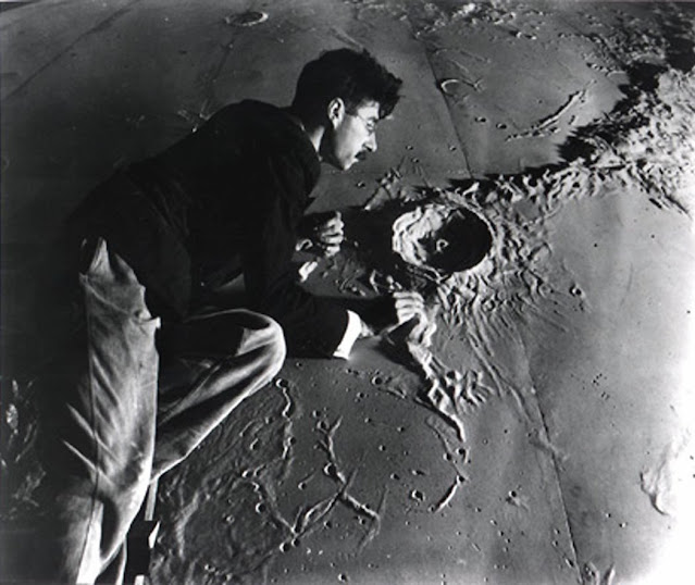 Illustrator-and-model-maker-Roger-Hayward-(1899-1979)-working-on-a-model-of-the-lunar-surface-for-the-Griffith-Planetarium-1934