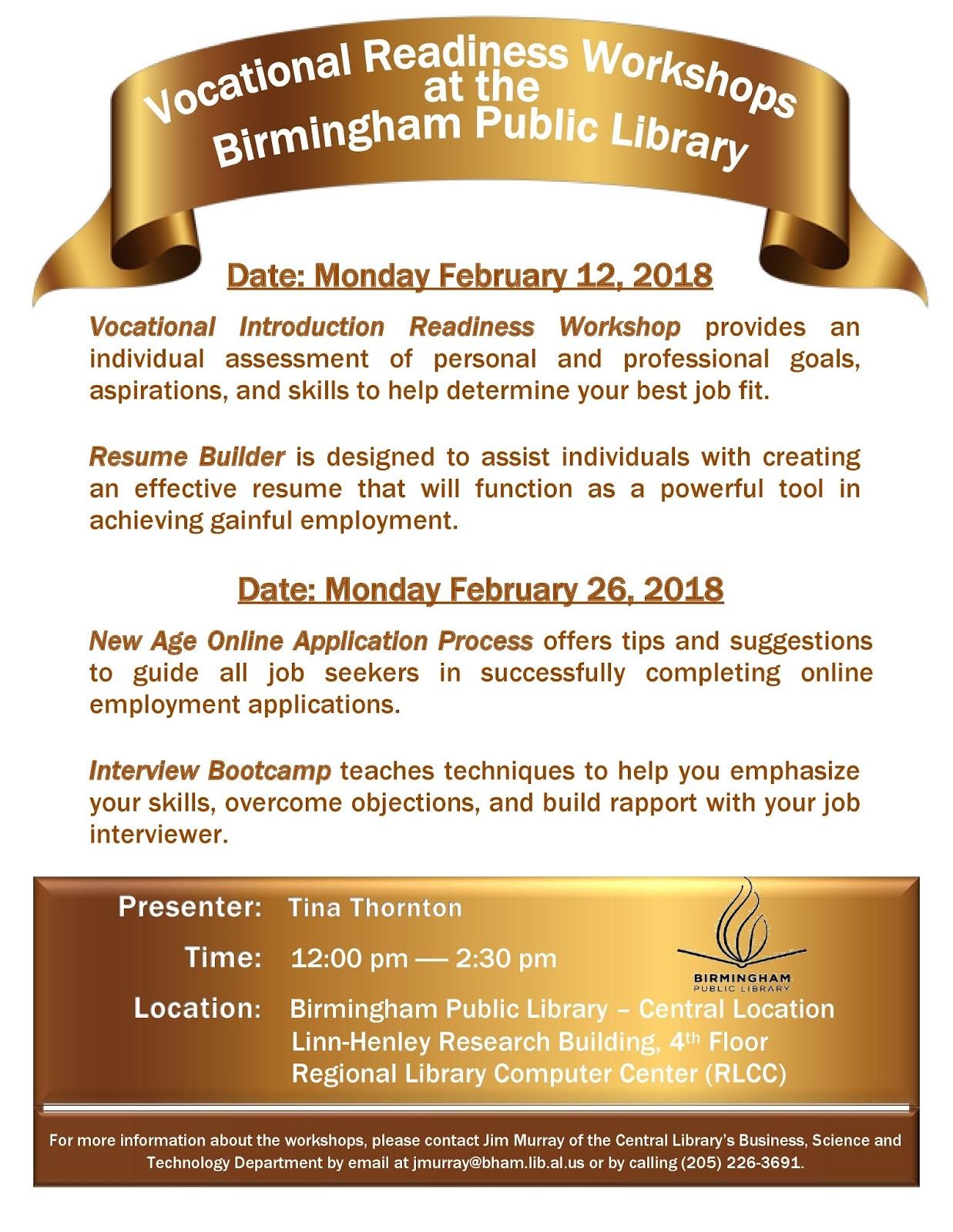resume workshop birmingham