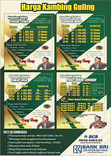 harga hidangan kambing kang asep