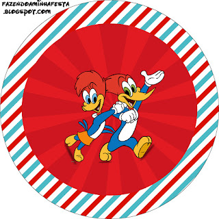 Woody Woodpecker Free Printable Cupcake Wrappers and Toppers.