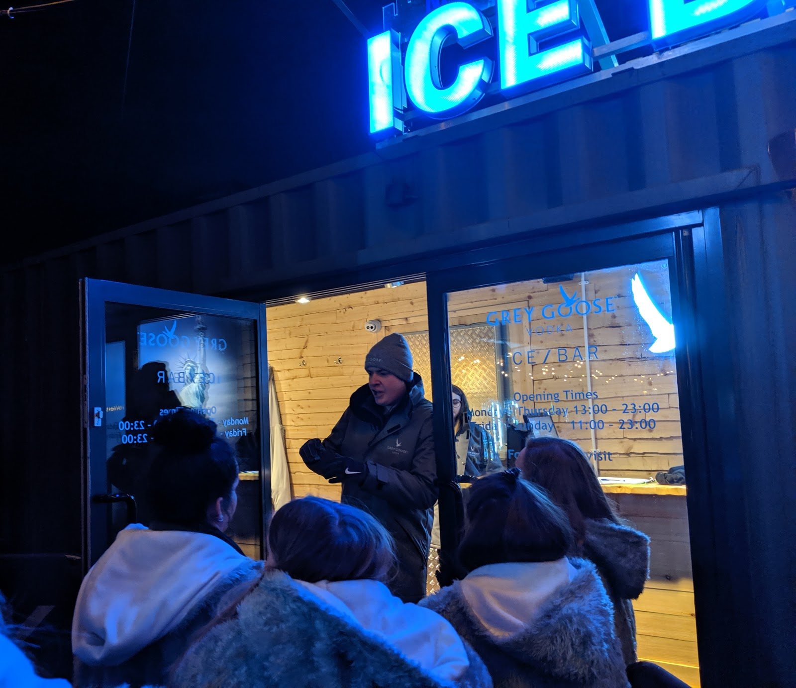 The Ice Bar at STACK Newcastle Review  - entrance