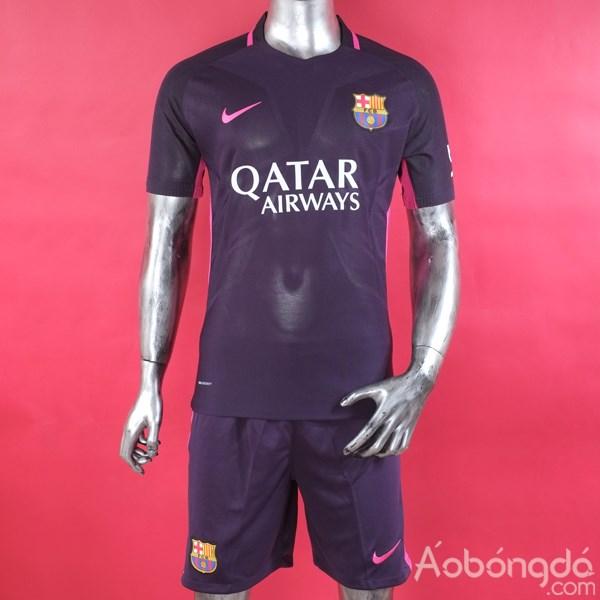 Bộ áo bóng đá siêu cấp Barcelona sân khách 2016/17 tại aobongda.com