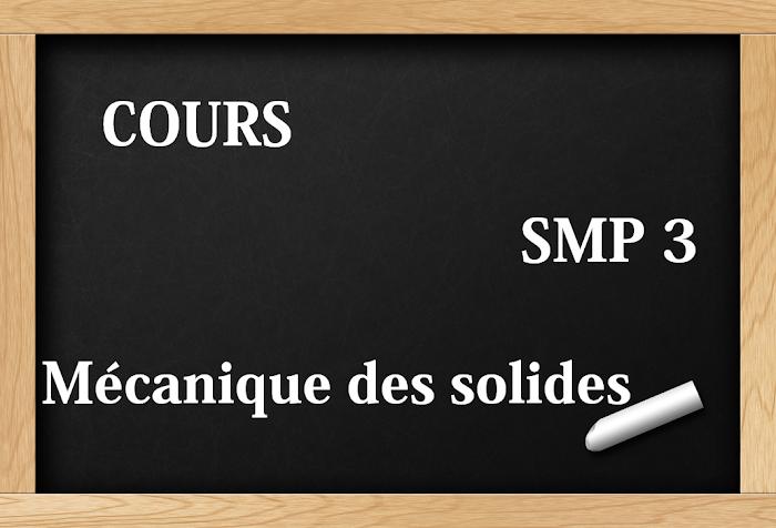 Cours de Mécanique du solide  SMP S3 PDF