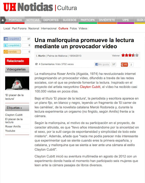 diario balear Última hora   Una mallorquina promueve la lectura mediante un provocador vídeo