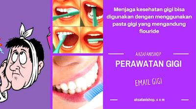 Menjaga kesehatan gigi bisa digunakan dengan menggunakan pasta gigi yang mengandung flouride