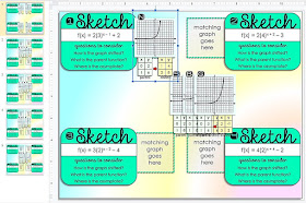 Graphing Exponential Functions Activity - print & GOOGLE Slides