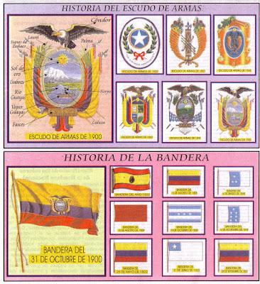 Símbolos Patrios del Ecuador Bandera Escudo e Himno Nacional Lamina Educativa Escolar