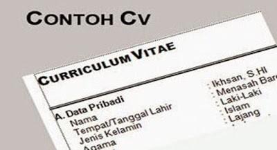 Contoh Surat Daftar Riwayat Hidup Untuk Lamaran Kerja Terbaru 2021