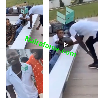 Burnaboy's Mum Gave Mannerless Naira Marley Handshake After Prostrating For Her. VIDEO