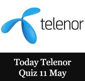 Telenor Quiz Today 11 May