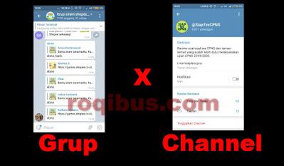 Perbedaan Channel dan Grup Di Telegram