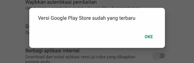 Perbarui Playstore Agar Tidak Terhenti