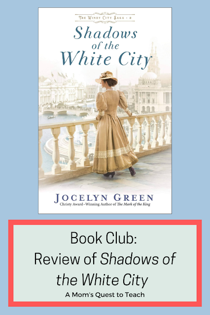 Book Club: Review of Shadows of the White City; A Mom's Quest to Teach; book cover of Shadows of the White City