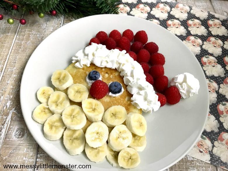 Santa pancakes craft