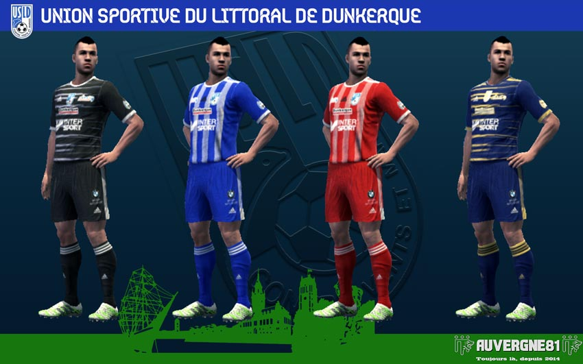 Kits USL Dunkerque 2021-2022 For PES 2013