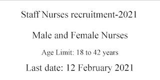 Staff Nurses Jobs for General Nursing Midwifery, B.Sc Nursing candidates