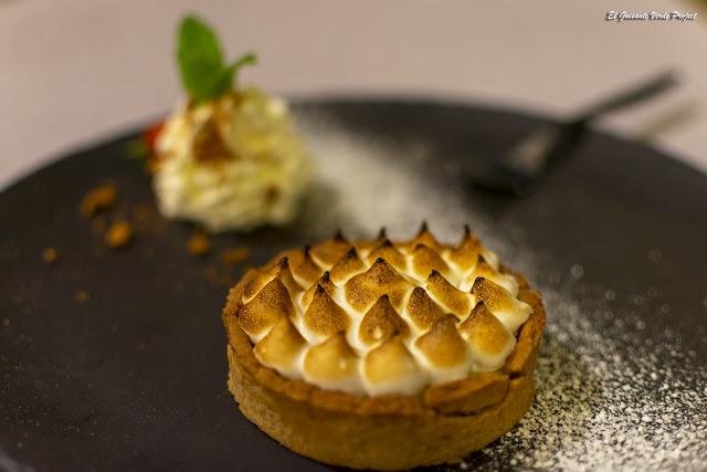 Restaurante Le Pradinas, postre, Anduze - Francia, por El Guisante Verde Project