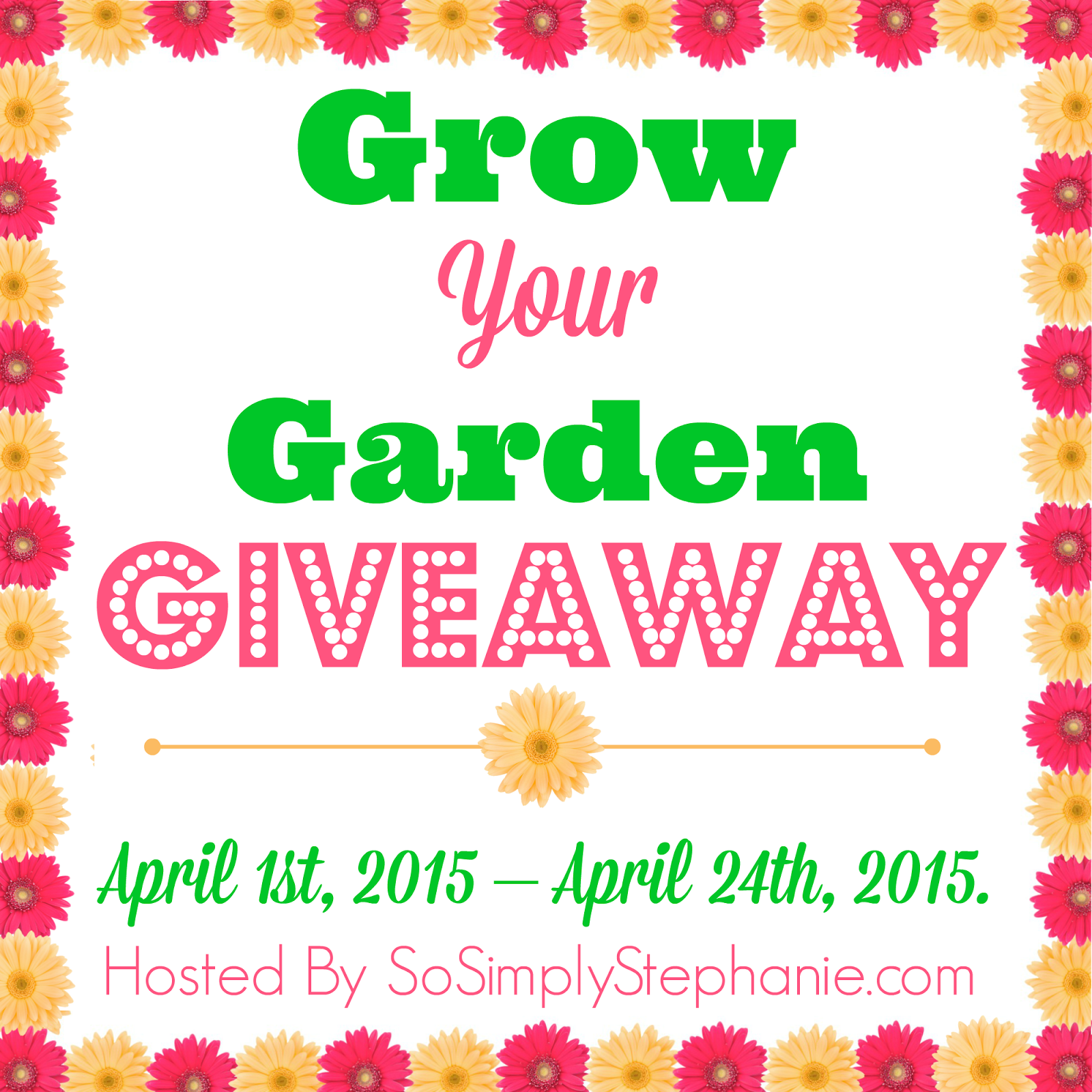Sign up for the Grow Your Garden Blogger Opp. Event starts 4/1/15