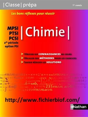 Chimie - MPSI - PCSI - PTSI - Classe Prépa Nathan pdf