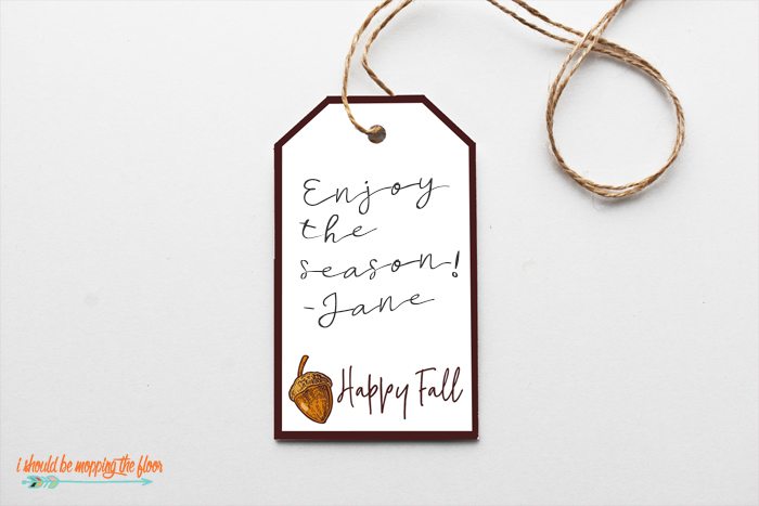 Free Printable Fall Gift Tags