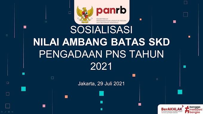 Kementerian PANRB Tetapkan Passing Grade SKD CPNS 2021