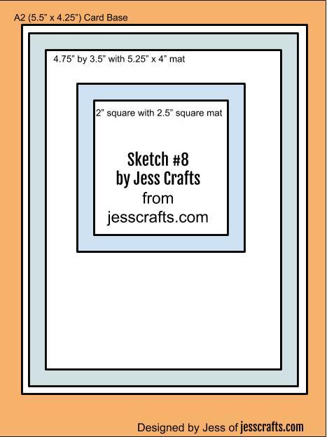 Card Sketch #8 by Jess Crafts